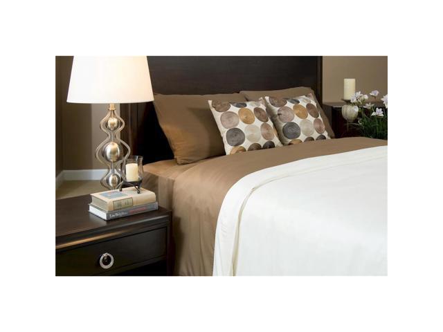 Bedvoyage Home Bedroom Decorative Duvet Cover, Queen - Mocha / Ivory [Reversible]