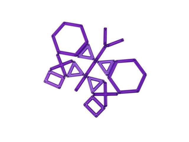 Guidecraft Powerclix Creativity 40 Pc Set Purple, Purple - G9406