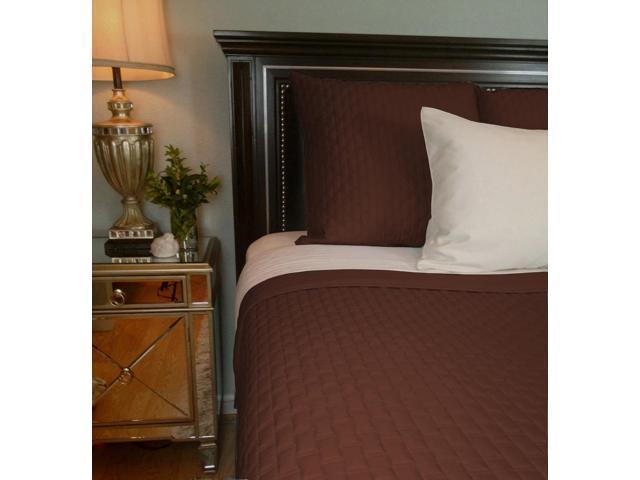 Bedvoyage Home Bedroom Decorative Coverlet - Queen, Mocha