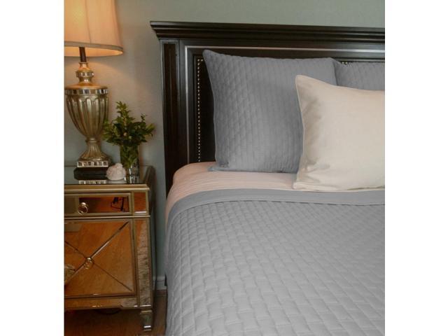 Bedvoyage Home Bedroom Decorative Coverlet - King, Platinum