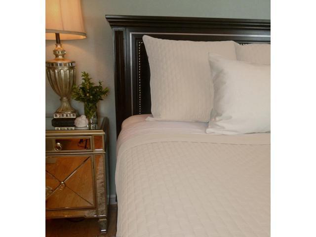 Bedvoyage Home Bedroom Decorative Coverlet - Queen, Ivory