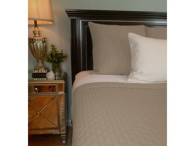 Bedvoyage Home Bedroom Decorative Coverlet - Queen, Champagne