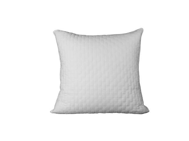 Bedvoyage Decorative Bedding Euro Sham - White