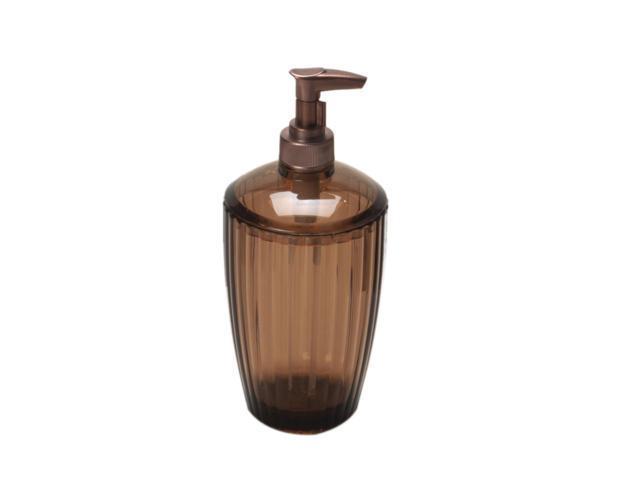 Carnation Home Fashions Brown, Rib-Textured Lotion Pump