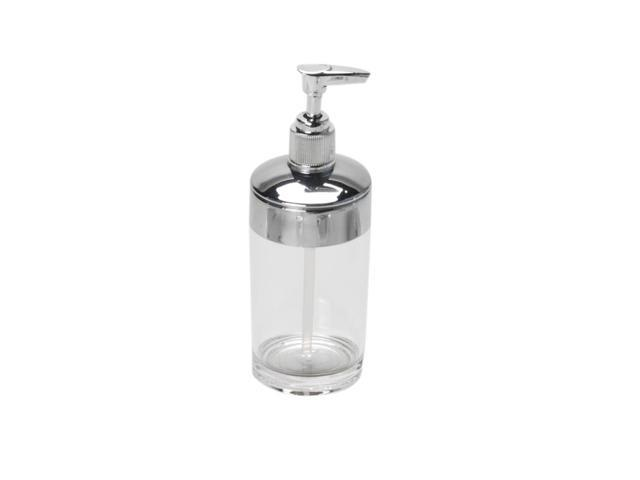 Carnation Home Fashions Clear with Chrome-Colored Trim, Rib-Textured Lotion Pump