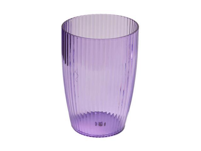 Carnation Home Fashions Magenta, Rib-Textured Waste Basket