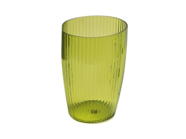 Carnation Home Fashions Palm Green, Rib-Textured Waste Basket