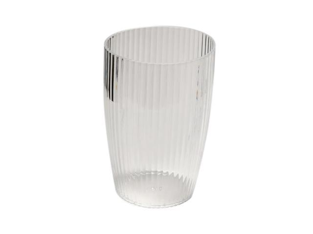 Carnation Home Fashions Clear, Rib-Textured Waste Basket