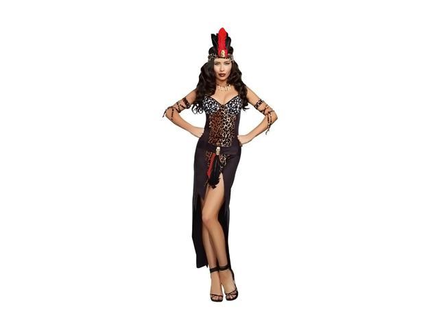 Morris Costumes  Halloween Party Voo Doo Priestess Adult xLarge Black Ultra