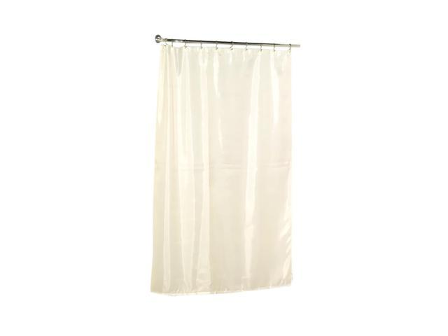 Carnation Home Fashions Extra Long 84 39 39 Polyester Shower Curtain Liner In Ivory