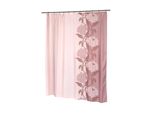 ... Room Decorative Extra Long Chelsea Fabric Shower Curtain in Mauve