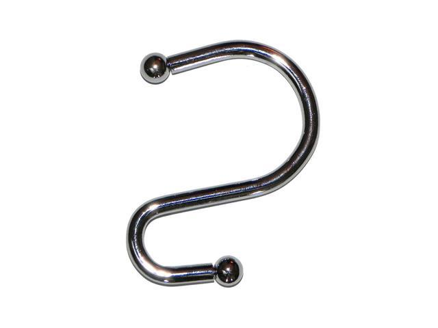 American Crafts S Shower Curtain Hooks in Chrome