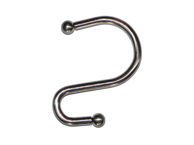 American Crafts S Shower Curtain Hooks in Brushed Nickel