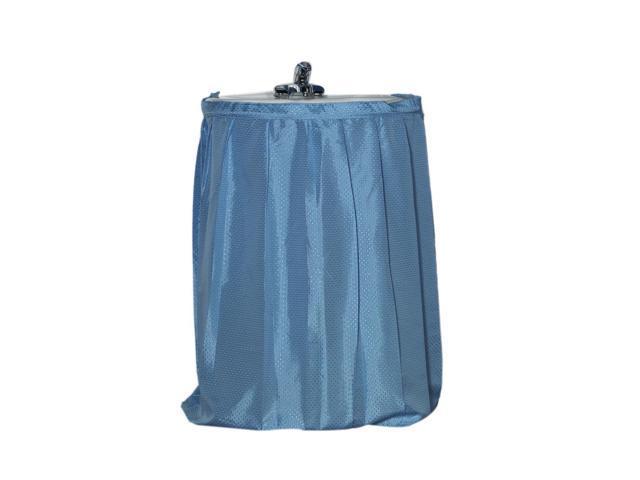 American Crafts Lauren Diamond-Piqued, 100% Polyester Sink Drape in Light Blue