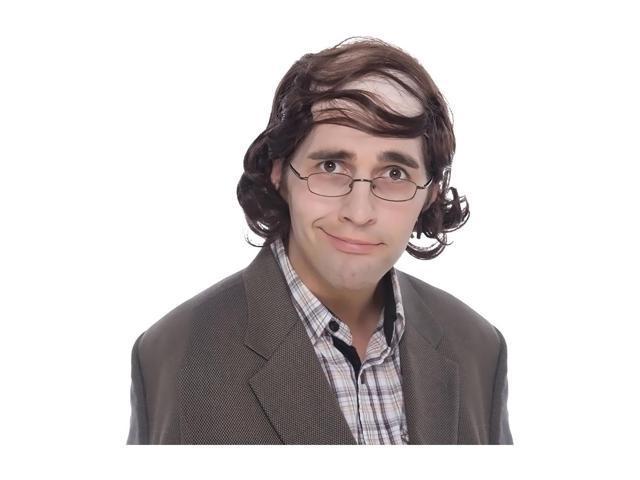 Morris Costumes Halloween Novelty Accessories Wig Mullet professor Brown