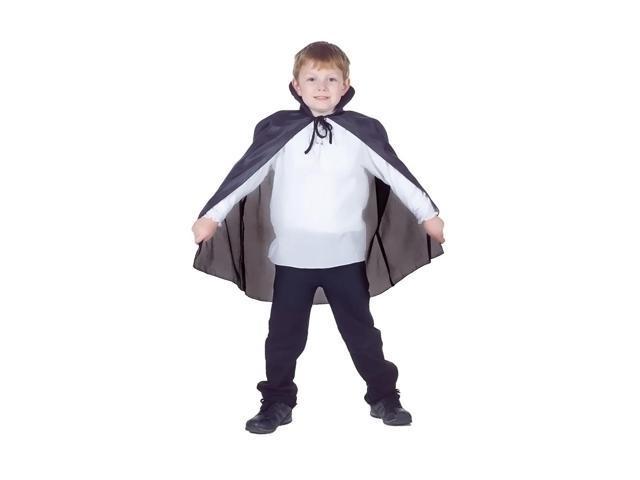 Morris Costumes Halloween Novelty Accessories Cape taffeta Child Black
