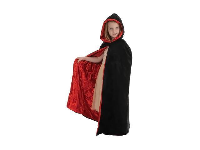 Morris Costumes Halloween Novelty Accessories Cape velvet Child Black/red