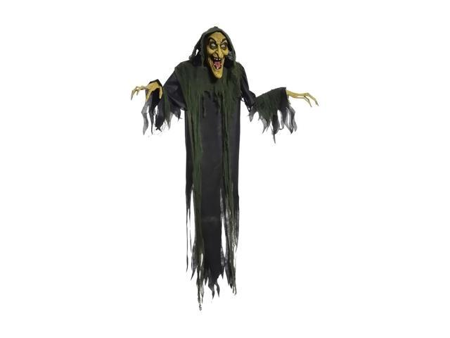Morris Costumes Halloween Novelty Accessories Hanging Witch 72 in animated