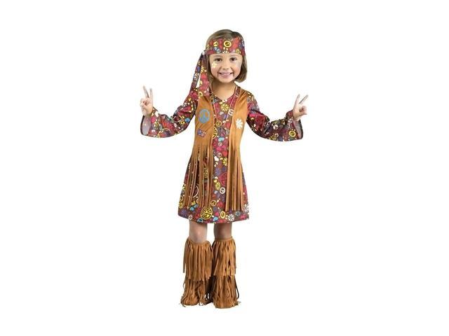 Morris Costumes Halloween Novelty Accessories Peace love hippie Toddler 3-4t