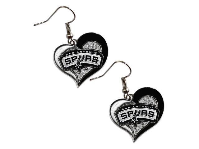 NBA San Antonio Spurs  Swirl Heart Earring