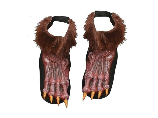 Morris Costumes Halloween Party Werewolf Shoe Cover Adult Brow
