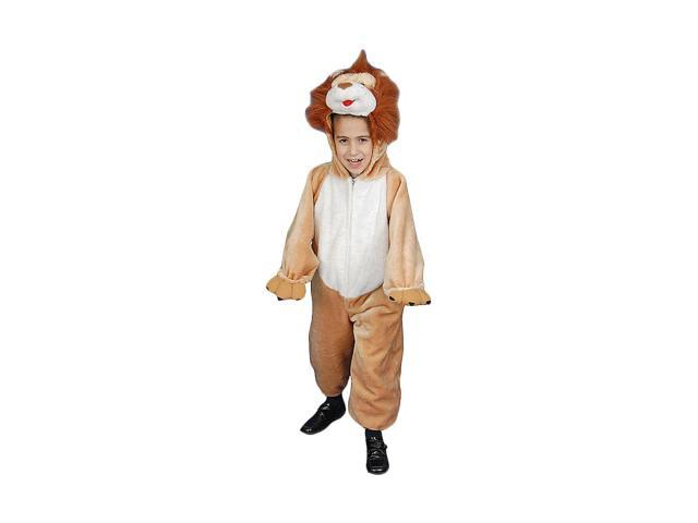 Dress Up America Halloween Party Kids Plush Roaring Lion Costume - Size Small 4-6