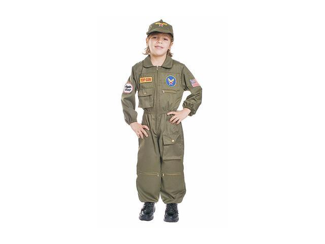 Dress Up America Halloween Party Air Force Pilot - Size Toddler T4