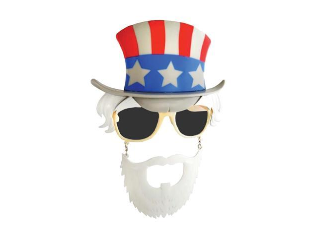 Morris Costumes Halloween Novelty Accessories Sunstache Uncle Sam Dk