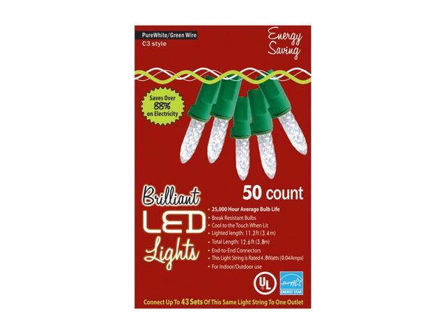Morris Costumes Halloween Novelty Accessories Holiday Lights 50l C3 Pure White