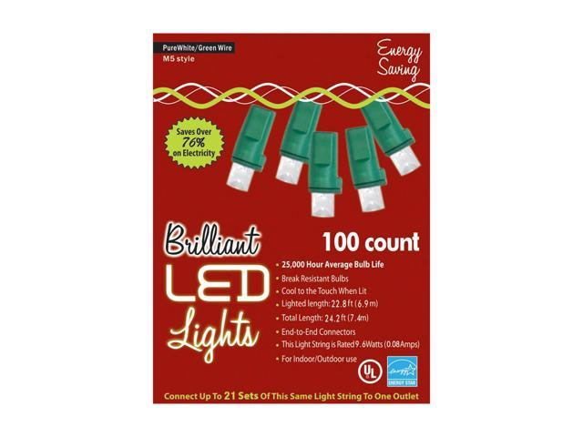 Morris Costumes Halloween Novelty Accessories Holiday Lights 100l M5 Pure White