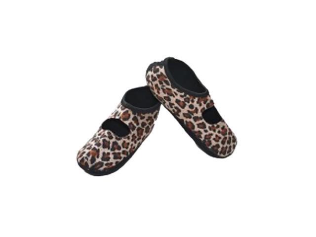 Calla Holdings LLC Water Resistant Indoor Footwear Nufoot Socks, Leopard XLG
