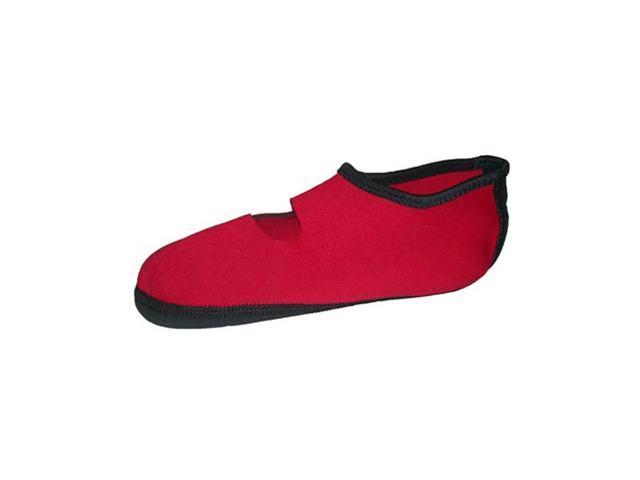 Calla Holdings LLC Multipupose Indoor Footwear Nufoot Socks, Red MD