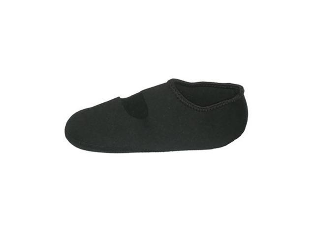 Calla Holdings LLC Home Travel Indoor Water Skid Resistant Footwear Nufoot Socks, Black LG