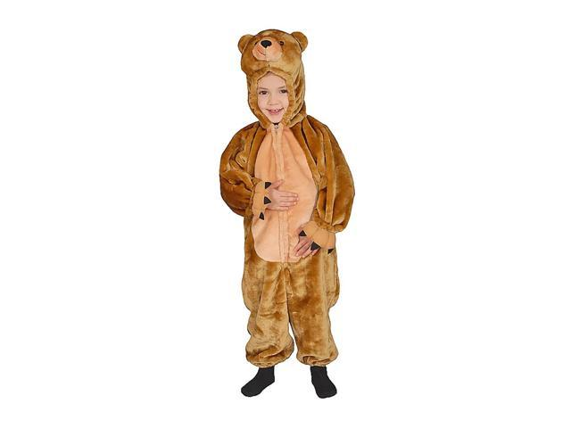 Dress Up America Halloween Party Costume Cuddly Little Brown Bear Costume Set - Size 10