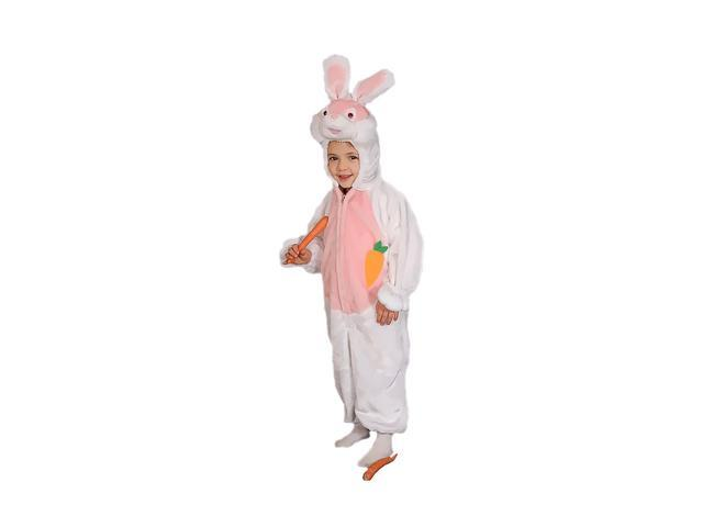 Dress Up America Halloween Party Costume Cozy Little Bunny Costume Set - Size 6