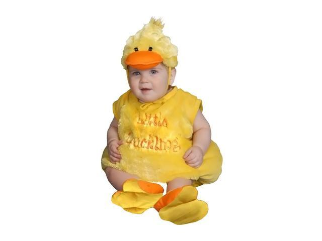 Dress Up America Halloween Party Baby Plush Duckling Costume - Size 0-6 Months