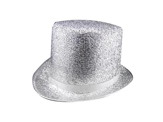 Dress Up America Halloween Costume Silver Top Hat