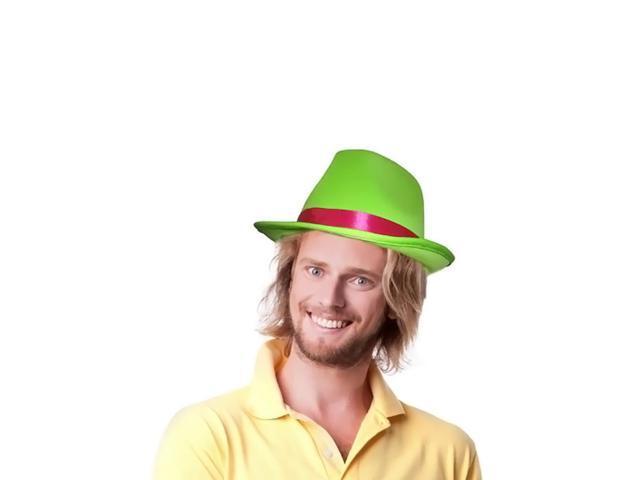 Dress Up America Halloween Costume Green Fedora Hat