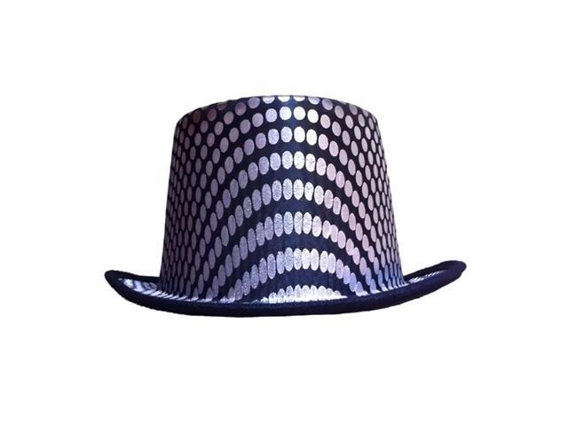 Dress Up America Halloween Costume Silver Squared Top Hat