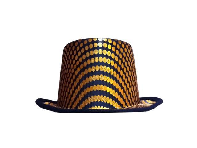 Dress Up America Halloween Costume Gold Squared Top Hat