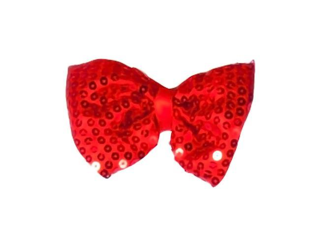 Dress Up America Halloween Costume Red Sequined Bow Tie - One Size