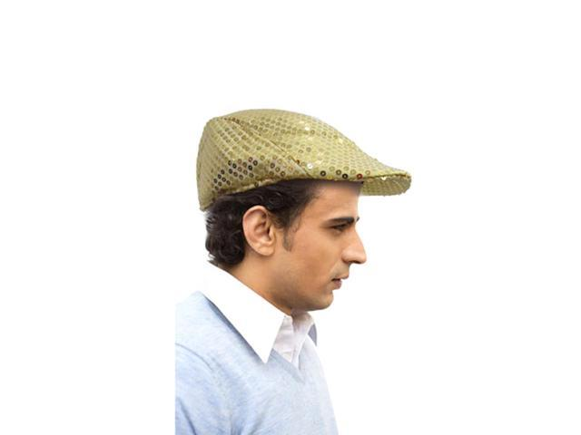 Dress Up America Halloween Party Costume Gold Flat Cap