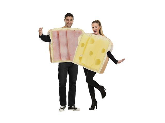 Morris Costumes Halloween Party Ham And Swiss Adult Couple