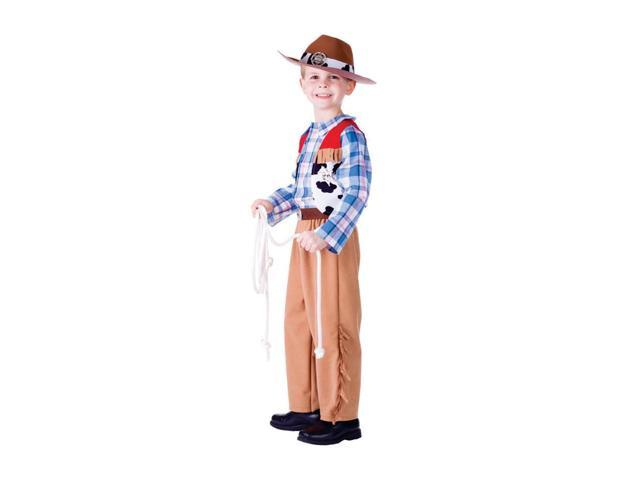 Dress Up America Halloween Party Costume Jr. Cowboy - Small (4-6)