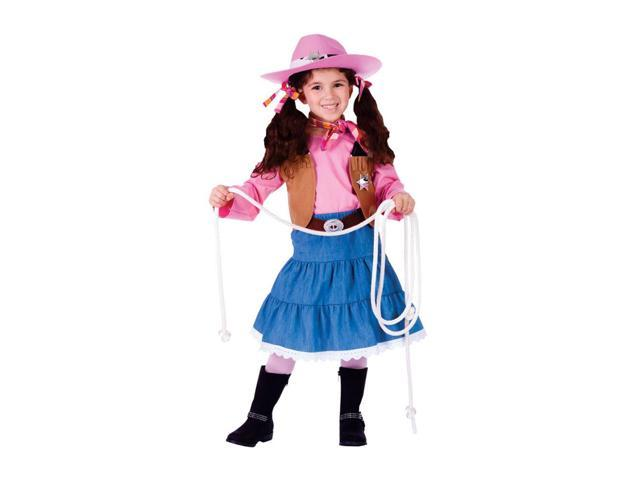 Dress Up America Halloween Party Costume Jr. Cowgirl - Small (4-6)