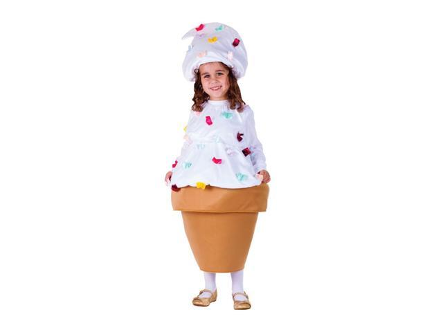 Dress Up America Halloween Party Costume Ice Cream Cone Size Large (12-14)