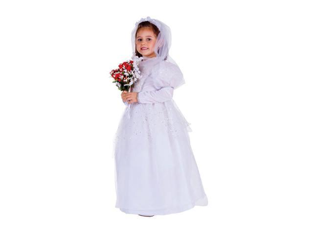 Dress Up America Halloween Party Costume Shimmering Bride Size Toddler T4