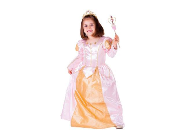 Dress Up America Halloween Party Costume Pink Belle Ball Gown Size Medium (8-10)