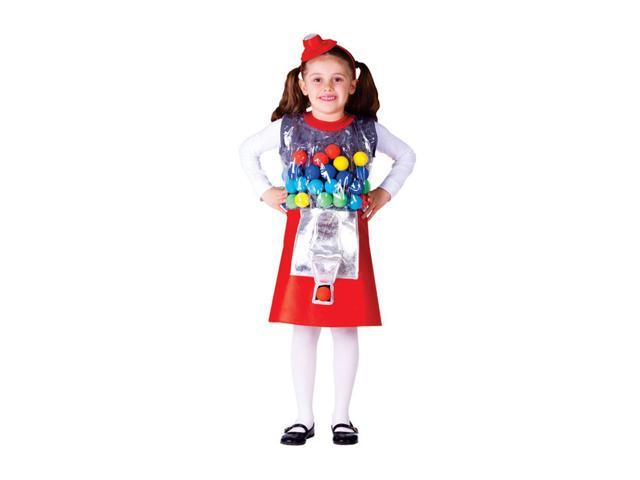 Dress Up America Halloween Party Costume Gumball Machine Size Large (12-14)