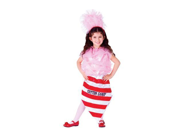 Dress Up America Halloween Party Costume Cotton Candy Size Medium (8-10)